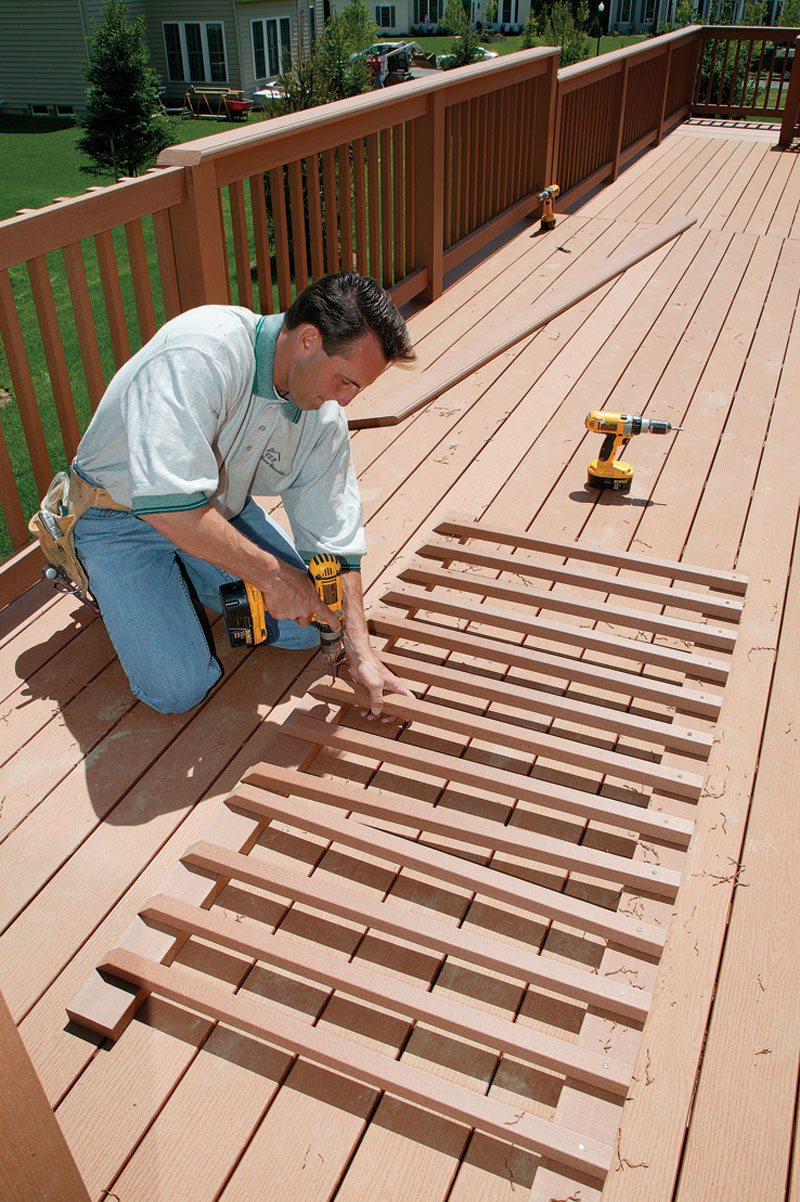 Manufactured deck railings look good but do they last for Timber deck construction