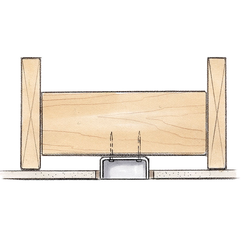 How to retrofit a ceiling fan electrical box fine homebuilding deep box can be attached to blocking between joists and is roomy enough to handle more than one cable it is also available in a saddle mount configuration mozeypictures Choice Image