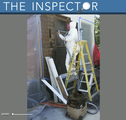 Play fine homebuilding 39 s game the inspector fine for Painting coating inspector jobs