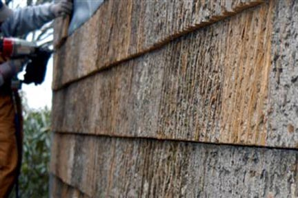 Can bark outlast vinyl siding by fifty years fine for Bark house siding
