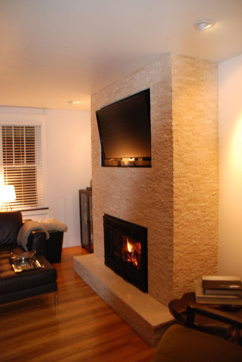 travertine stone fireplace and tv surround fine homebuilding