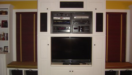 Center view of entertainment unit