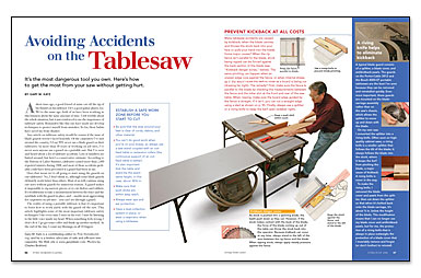 Read Gary Katz's article on tablesaw safety
