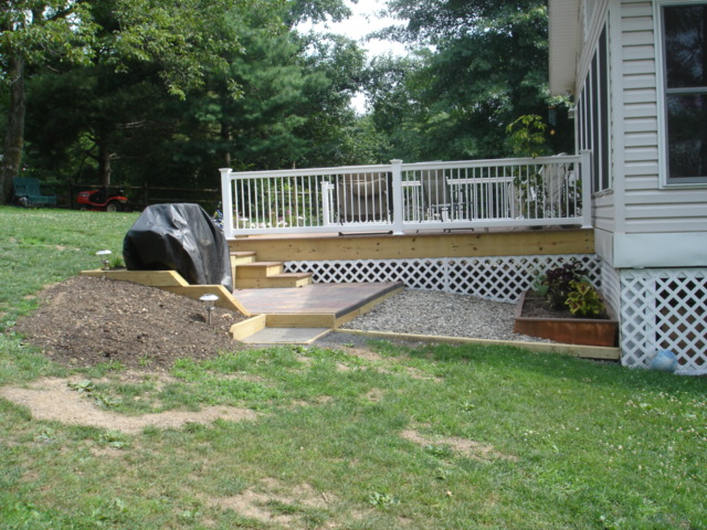 how to build a deck on a hill