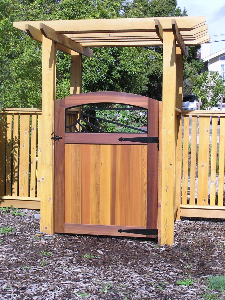 Cedar fence arbor and gate fine homebuilding