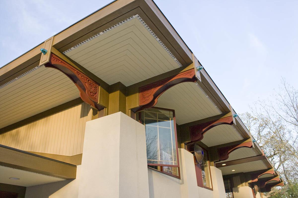 Hidden Rain Gutters And Down Spouts Fine Homebuilding