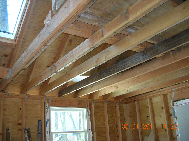 How to reinforce 2x6 ceiling joists to handle heavy loads for Lumber calculator for walls