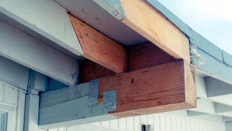 "Building Blunders contest winner: Another beam repair with the customary ""Tail Light Guarantee"""