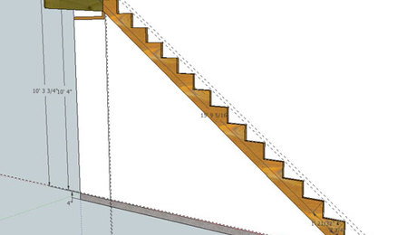 A SketchUp model is a great way to do all the math for stair stringer layout.