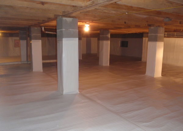 What 39 s the best way of insulating a crawl space fine for Crawl space slab