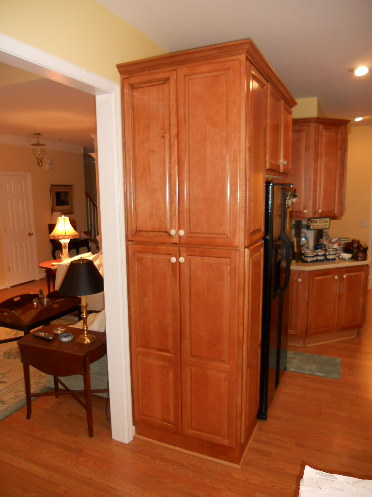 Pantry cabinet fine homebuilding for Adding height to kitchen cabinets