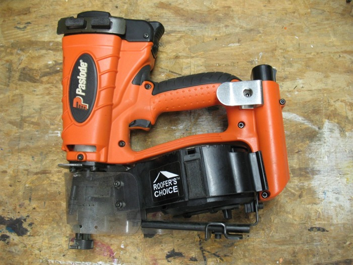 Paslodeu0027s CR175C Cordless Roofing Nailer Fills The Gap Between Production  Pneumatic Tools And Hand Nailing Pick Up Work Like Nailing Drip Edge, ...