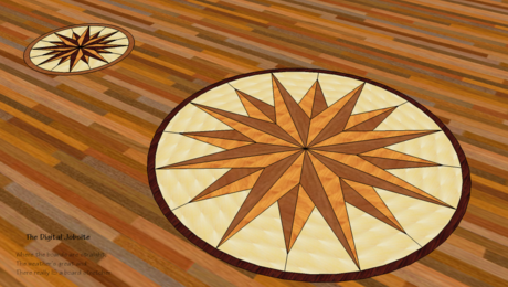 Medallion layout ideas for hardwood floor applications
