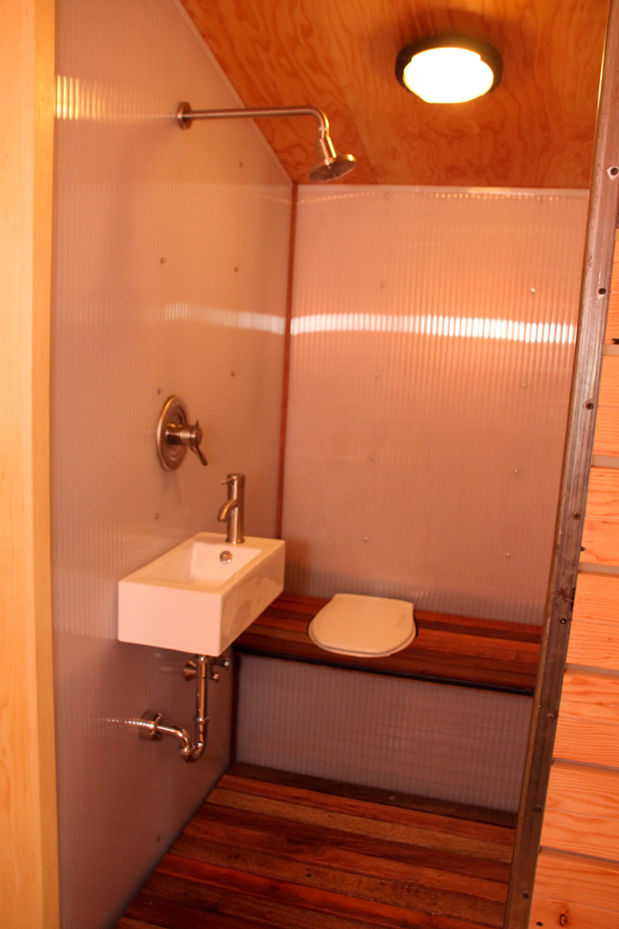 Yestermorrow tiny house 2011 fine homebuilding for Wet area bathroom ideas