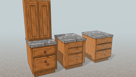 Cabinets with details