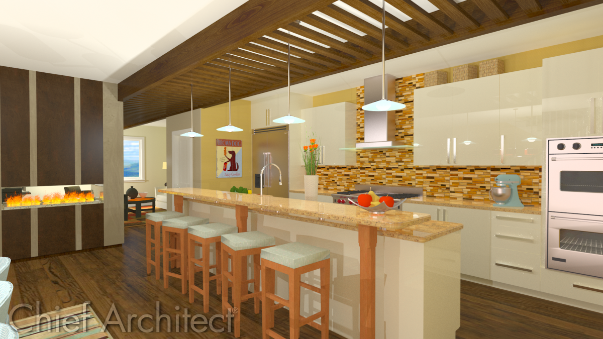 2012 kitchen sample plan by chief architect fine homebuilding Kitchen design rendering software