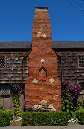 Often the most we see of a chimney is the three feet or so which extends  above a roof top. End chimneys, however, can have a larger impact. This  brick ...