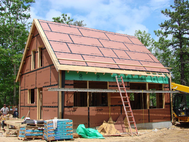 Airtight wall and roof sheathing fine homebuilding for Exterior wall sheeting