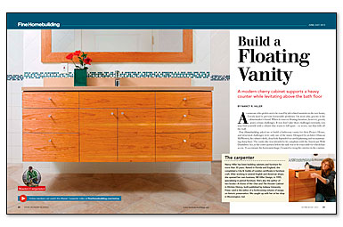 diy floating vanity cabinet. Build a Floating Vanity  View more videos Video Series How to Fine Homebuilding