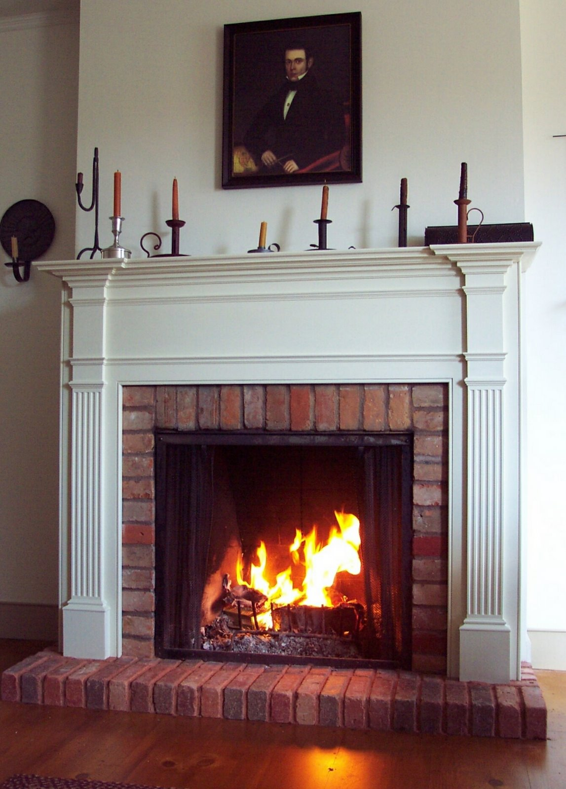 Fireplace mantel fine homebuilding for Fireplace no mantle