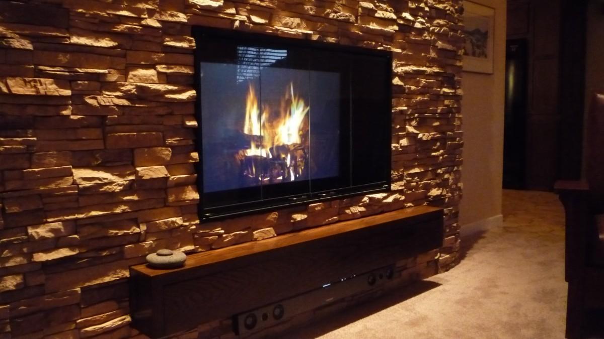 multitasking high definition fireplace fine homebuilding