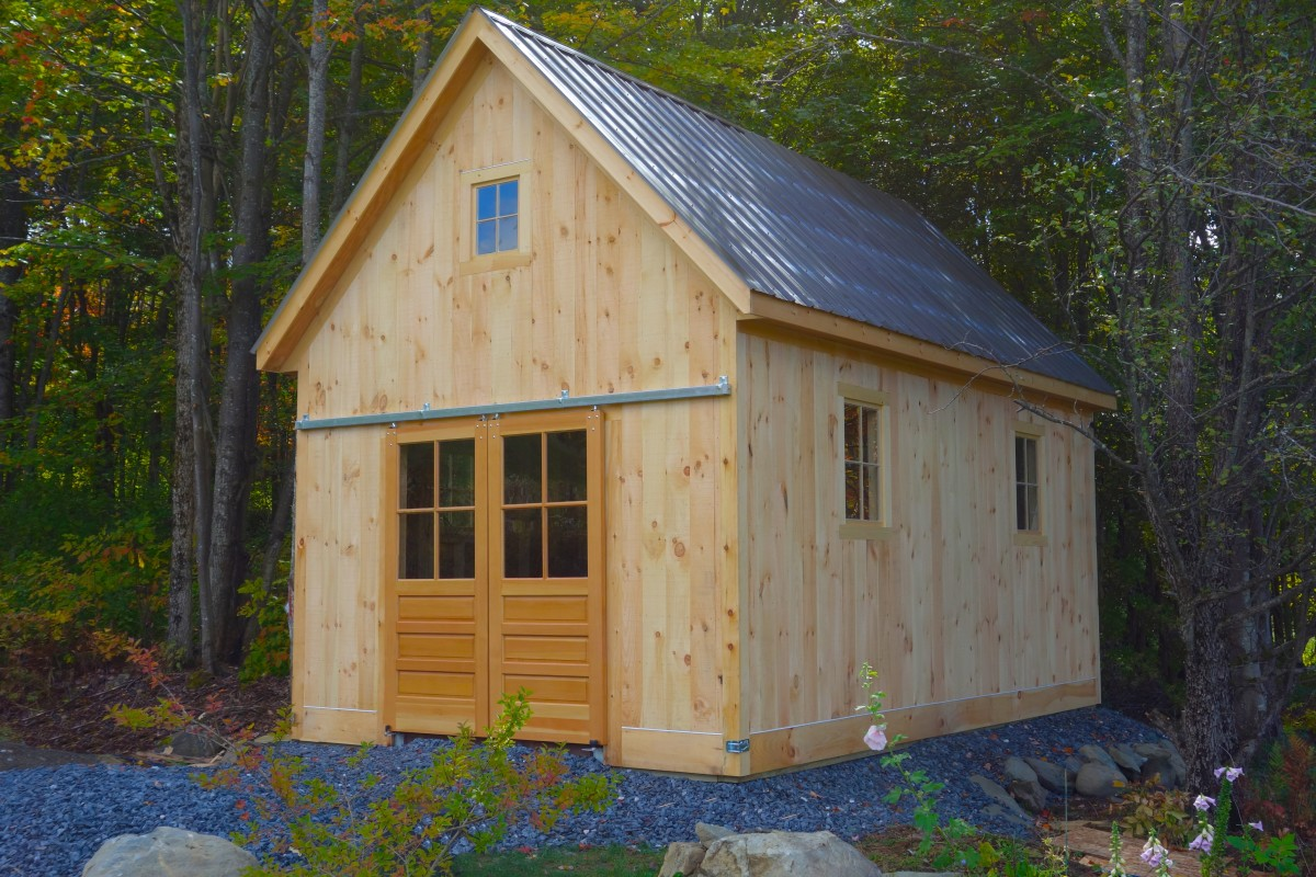 A vermont tractor shed fine homebuilding for How to build a tractor shed