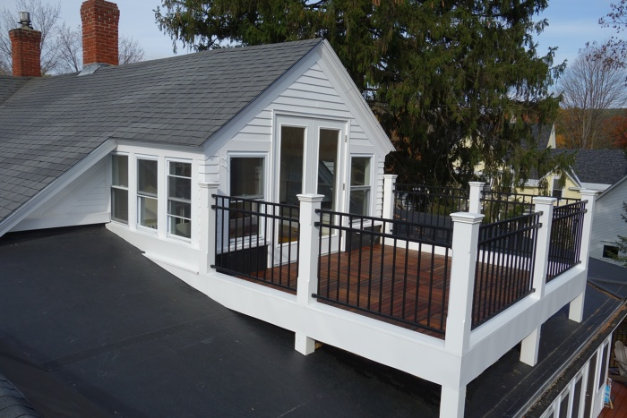 Ipe rooftop deck fine homebuilding for 3 story house with rooftop deck