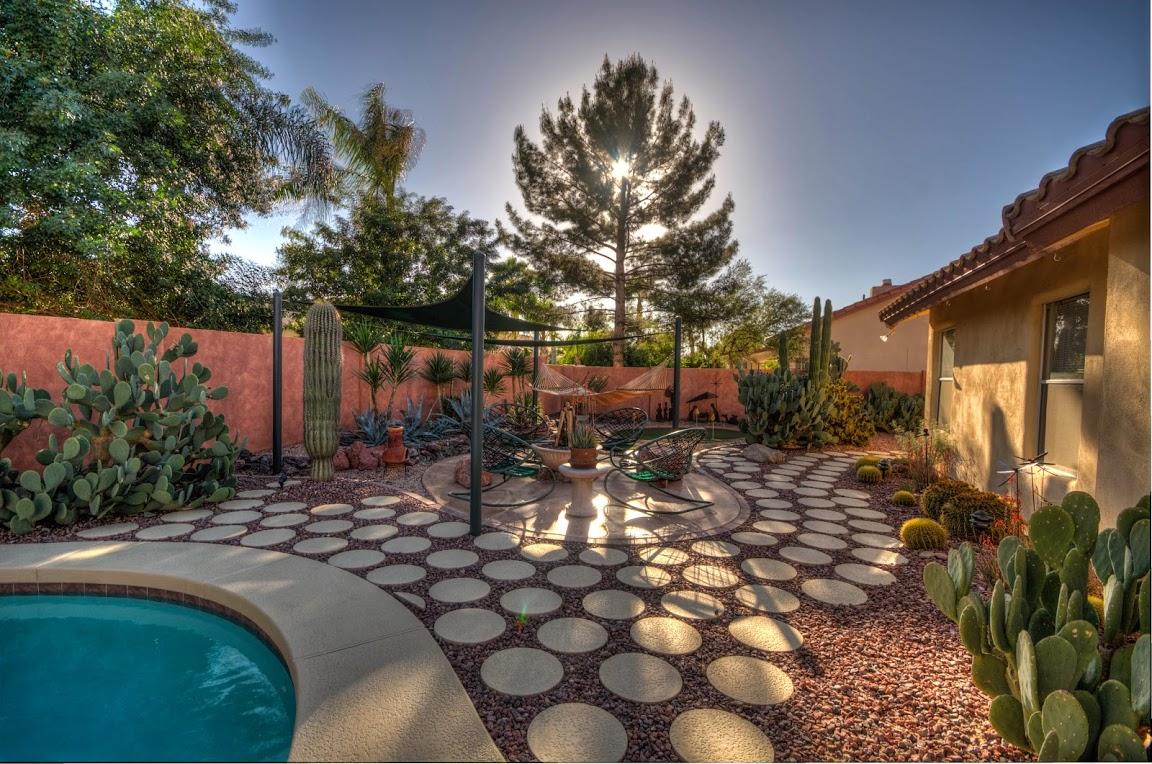 desert backyard firepit fine homebuilding