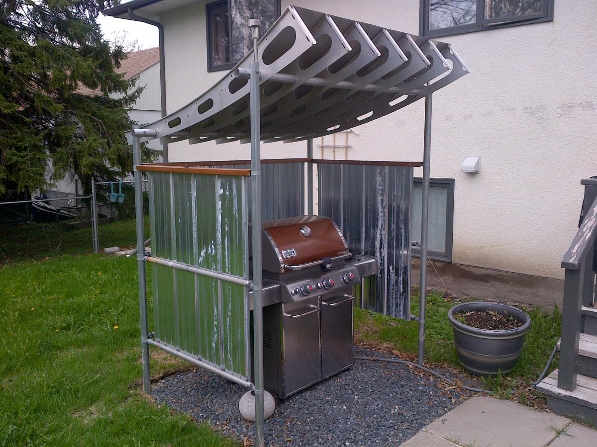 Recycled-Satellite-Dish BBQ Shelter - Fine Homebuilding