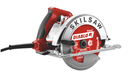 """The SkilsawSPT67WM has a magnesium housing and shoe. The maker claims its """"dual-field"""" motor runs cooler while providing more power than competitors."""