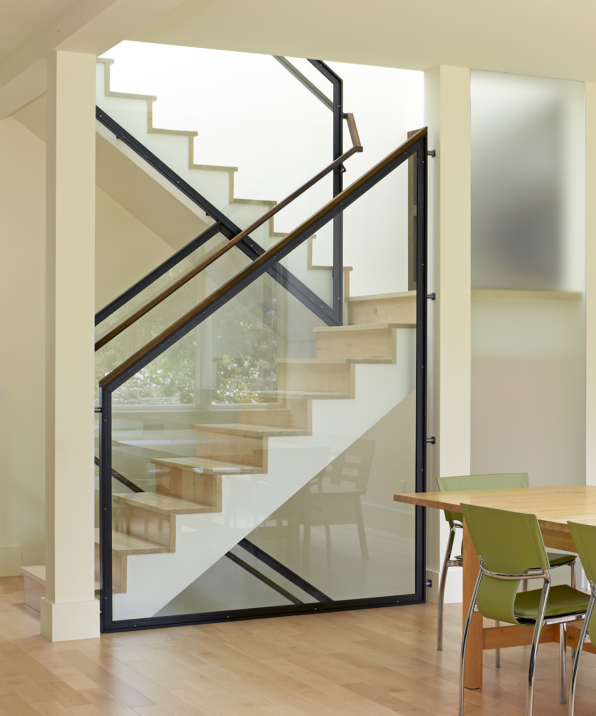 The story of a stairway that never ends fine homebuilding for Window railing design