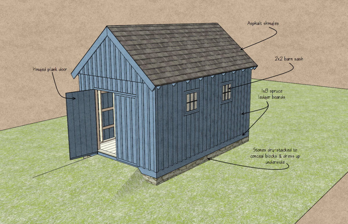 you can build this shed for about 2 000 fine homebuilding
