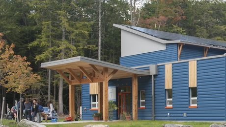 The Friends School of Portland a few miles north of Portland, Maine, in the town of Cumberland opened its doors to students in September. Still awaiting certification, it would become one of only a few Passivhaus school buildings in the country and is operating at near capacity. (Photo: Naomi C.O. Beal)