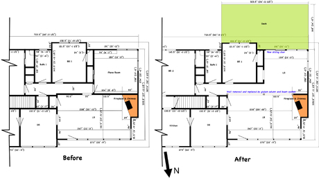 Floor Plan, Before and After