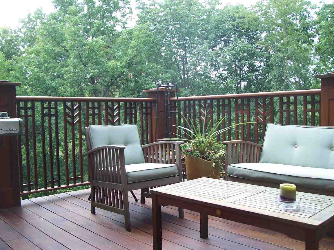 ipe deck with prairie style railing fine homebuilding