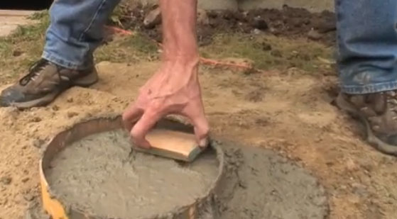 How to level up concrete piers fine homebuilding for Post and pillar foundation