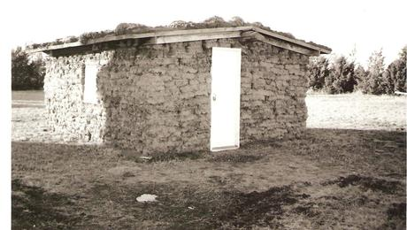 A typical sod house found all across the high, treeless plains.
