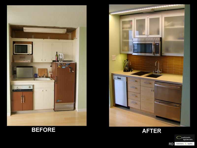 basement apartment before and after. Small Condo Kitchenette Before and After  Fine Homebuilding