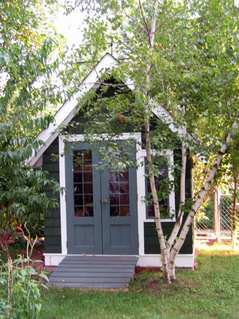 cedar shake garden shed