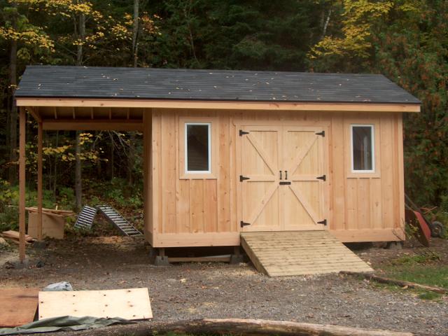 Pine board and batten shed fine homebuilding for Board and batten shed plans