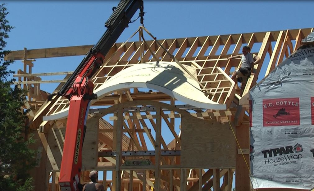 cnc manufactured framing replaces site built custom dormers