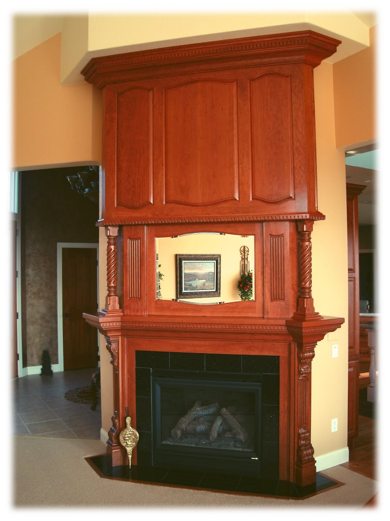 cherry fireplace surround and overmantle fine homebuilding