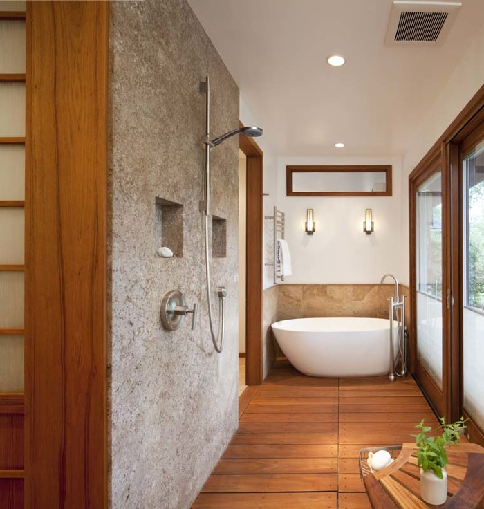 traditional japanese soaking tub. What was once a neglected porch now houses traditional Japanese soaking  tub and rinse off shower A Bath Where East Meets West Fine Homebuilding