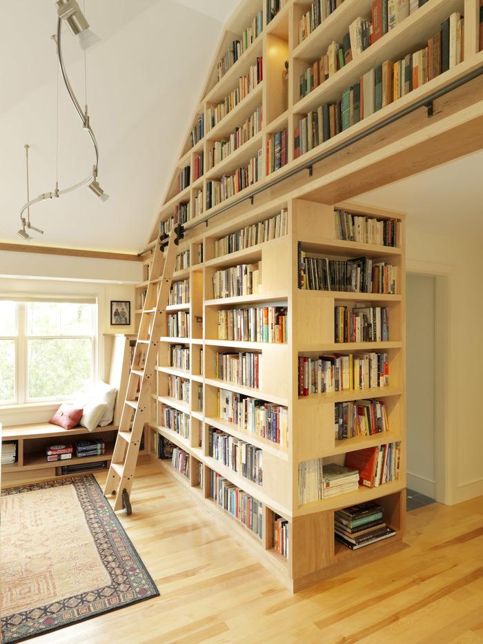 Floor to Ceiling Bookshelves - Fine Homebuilding