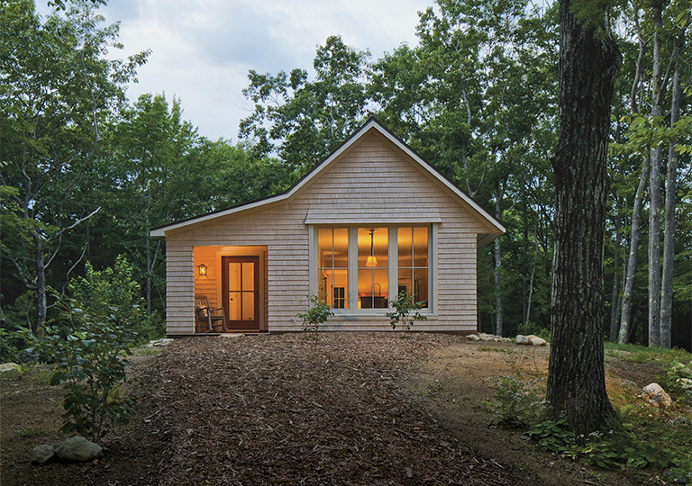 5 small home plans to admire fine homebuilding for Basic cabin designs