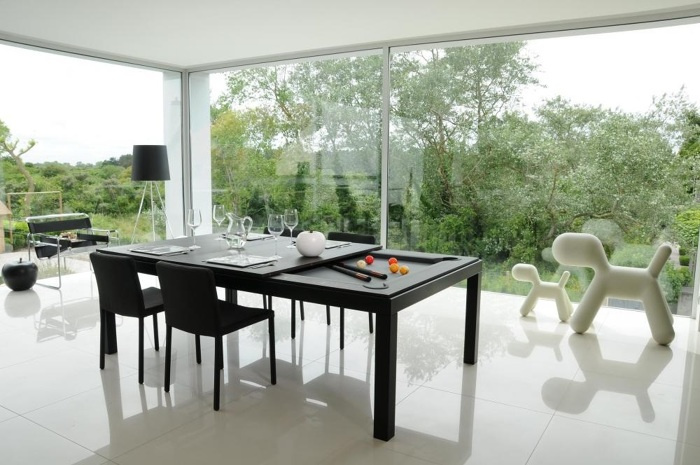 dining room table pool conversion convert into fusion black powder coated main tops for tables