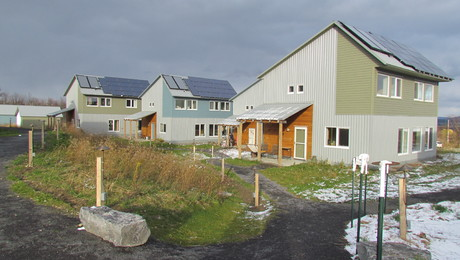 Many homes at TREE, a new community at EchoVilliage Ithaca, meet stringent Passive House standards