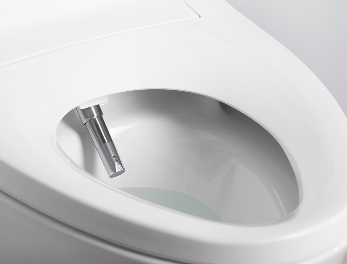 japanese self cleaning toilet. The bidet in the Kohler Veil Intelligent toilet has settings for water  temperature pressure and spray pattern Plus it s self cleaning with a UV filter Toilet Might Make You Brag About Your