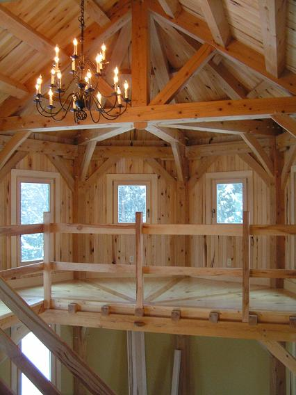 Half Octagon Timber Frame Fine Homebuilding