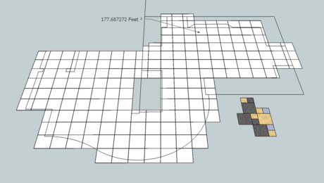 Tile layout made easy the SketchUp way.